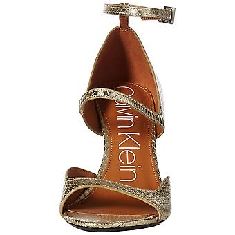 Calvin Klein Womens Nadeen Leather Open Toe Casual Ankle Strap Sandals