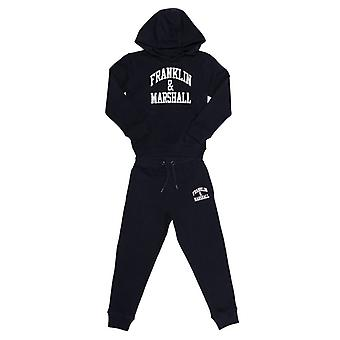 Boy's Franklin And Marshall Junior F and M Tracksuit in Blue