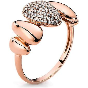 Diamond ring 585/red gold 0.23 ct.