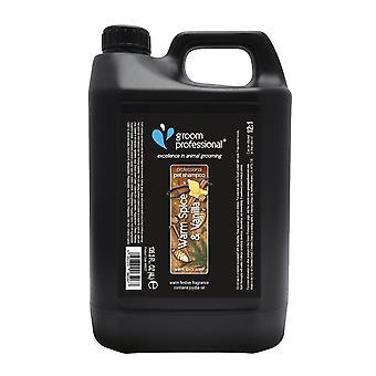 Groom Professional Warm Spice & Vanilla Festive Scent Pet Shampoo, 4L