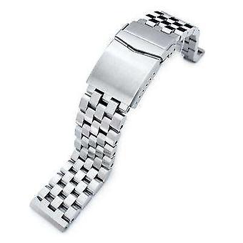 Strapcode kello rannekoru 22mm superinsinööri ii 316l ruostumattomasta teräksestä suora pää kello rannekoru, yleinen 1,8mm jousitanko, v-lukko wcp72699