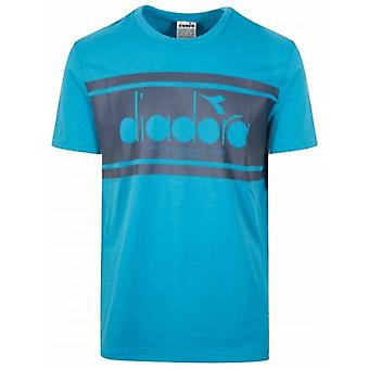 Diadora Mosaic Blue Short Sleeve T-Shirt
