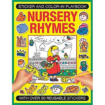 Sticker and Colour-in Playbook: Nursery Rhymes (Sticker and Color-in Playbook)