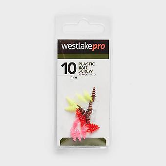 Westlake Plastic Bait Screw 10mm 20Pk Natural