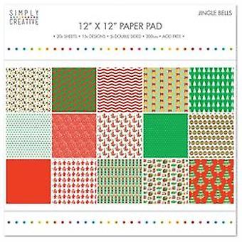 Simply Creative FSC Paper Pad 12x12 Inch Jingle Bells
