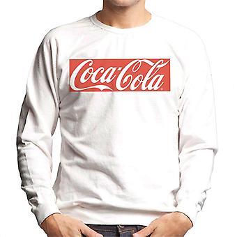 Coca Cola block logo typ män ' s tröja
