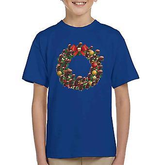 Christmas Alien Chest Burster Wreath Kid's T-Shirt