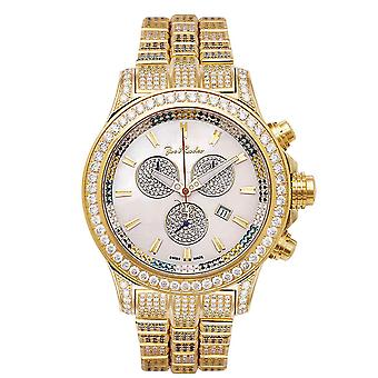 Joe Rodeo Diamond Men's Watch - MASTER PILOT gold 26.7 ctw