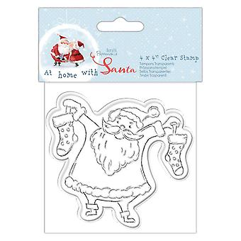 Papermania At Home with Santa Clear Stamp