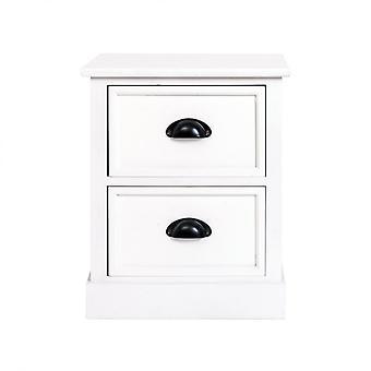 Rebecca Huonekalut Comodino Mobile 2 Moderni Valkoinen Puu Laatikot 45x37x27