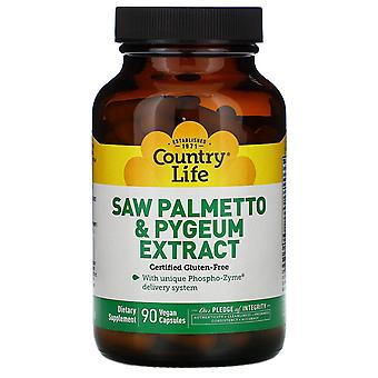 Country Life, Saw Palmetto & Pygeum Extract, 90 Vegan Capsules