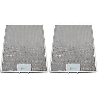 2 x Universal Cooker Hood Metal Grease Filter 274mm x 334mm