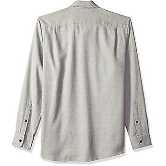 Goodthreads Men's Standard-Fit Long-Sleeve Heather Flannel Shirt, Light Grey,...