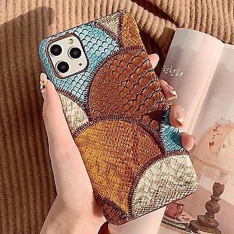 Shell for iPhone11 with vegan snakeskin