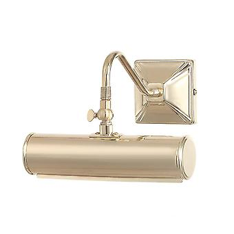 1 Light Small Picture Wall Light Polished Brass, E14