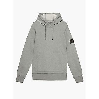 Stone Island Cotton Zip Up Grey Hoodie