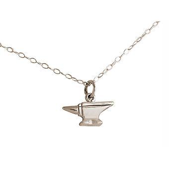 Ketting aambeeld hanger. 925 Silver Tool: Artisan, Workshop, Leerling