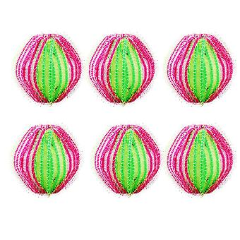 6PCS Washing Machine Depilation Magic Laundry Ball Green 3.5cm