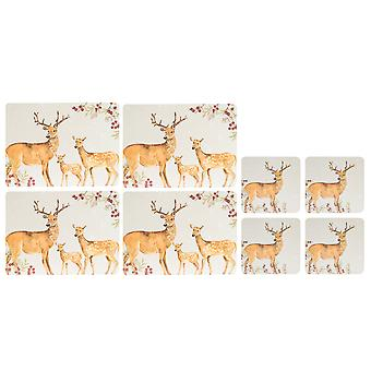 Foxwood Home Winter Lodge Placemats and Coasters