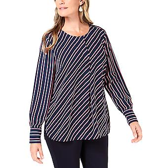 Charter Club | Striped Henley Blouse