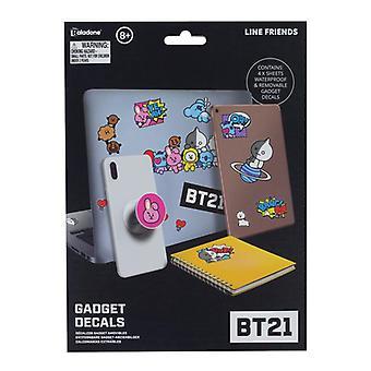 BT21 Gadget Decalcomanie Decalcomanie e adesivi con licenza ufficiale per computer portatili e telefoni
