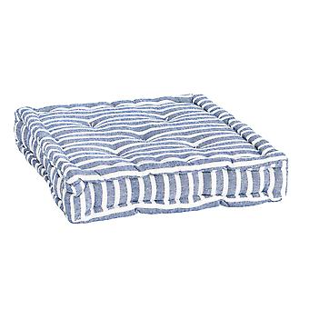 Nicola Spring Square Padded French Mattress Dining Chair Cushion Seat Pad - Blue Stripe