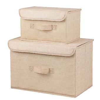 YANGFAN 2 Pcs Foldable Washable Storage Box with Cover