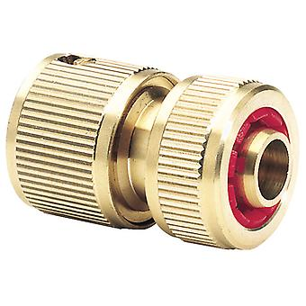 """Draper Expert 36202 Brass 1/2"""" Hose Connector with Water Stop"""