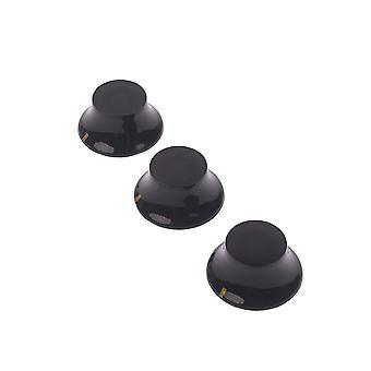 3PCS Black Guitar Knob z yellow mark guitar volume tone control knob 3PCS Black Guitar Knob