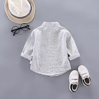 Boy Long Sleeves Shirts Baby Striped Kids Tops Tees Spring Child Casual Thin