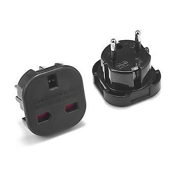 1pc Universal Uk To Eu Plug Converter- 250v Ac Power Adapter