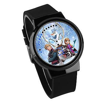 Ceas cu LED Digital Touch Pentru copii impermeabil - Frozen #20