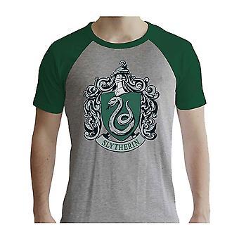 هاري بوتر تي شيرت Slytherin الرسمية الجديدة الرجال غراي & الأخضر