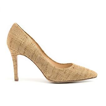 Tortora Fabric Shoe With High Heel