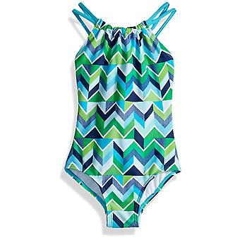 Kanu Surf Big Girls' Jasmine Beach Sport Halter One Piece Swimsuit, Ruby Navy...