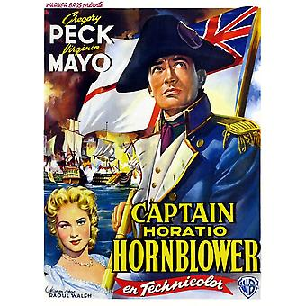 Captain Horatio Hornblower From Left Virginia Mayo Gregory Peck 1951 Movie Poster Masterprint