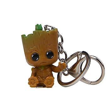 Baum Mann Modell Marvel, Wächter Groot Puppe Schlüsselanhänger