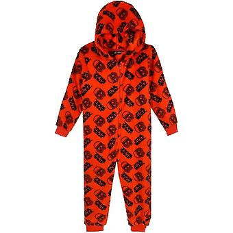 Star wars kids (3-10) pyjama fleece overall one piece stw2159ovr
