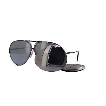 Porsche Design P8478 V Metallic Blue and Silver Sunglasses