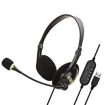 Usb Headset With Microphone Noise Cancelling Lightweight Wired Headphones