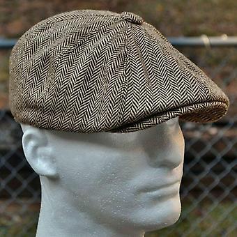 New Herringbone Style Berets Retro Woolen Top Felt Hat