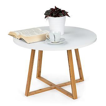 Houten salontafel wit - 60cmx40 cm