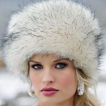 سيدة فو فوكس فور Cossack نمط الروسية القبعات الشتوية / & الذراع كاب