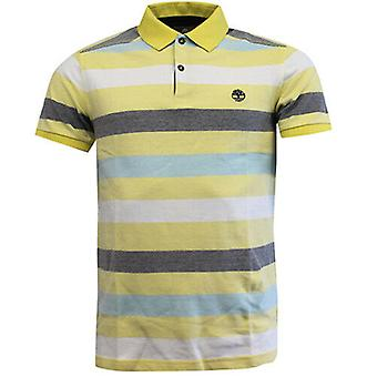 Timberland Earthkeepers Washed Yellow Cotton Mens Polo Top Shirt 6003J 718 R11E