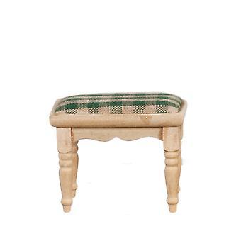 Dolls House Footstool Stool Unfinished Bare Wood Miniature Furniture