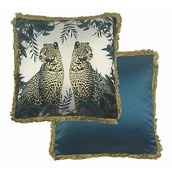 Paoletti Leopard Cushion Cover