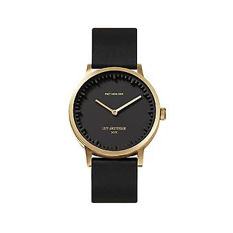Leff Amsterdam LT74513 T32 Brass Tube Black Dial Wristwatch