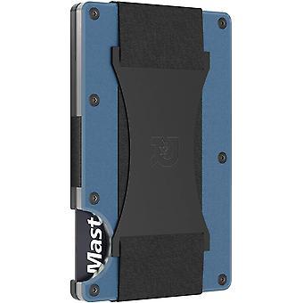 The Ridge Wallet Authentic   Minimalist Metal RFID Blocking Wallet - Cash Strap (Navy)