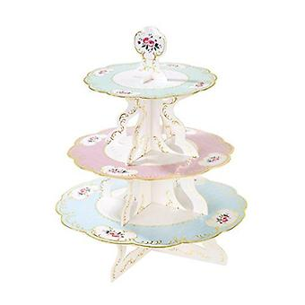 Truly Chintz 3 Tier Cake Stand Afternoon Vintage Style Tea Party