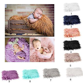 Oulii baby photo props soft fur quilt photographic mat diy newborn baby photography wrap-baby photo